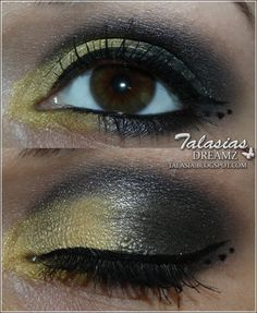 Black Yellow Eye Make Up - Datum: 17.03.2012  http://talasia.blogspot.de/2012/03/tag-kleines-lidschatten-1x1-gelb.html