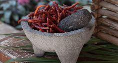 Moliendo sabores de México: Su nombre viene del náhuatl molli que significa salsa y caxitl que significa cajete, es decir una vasija honda.