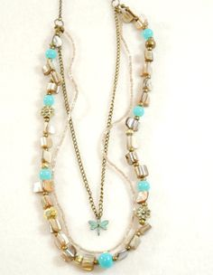 handmade beaded necklace vintage style jewelry by FindingBrooke, $24.00
