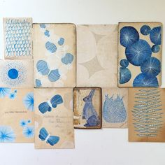 Artist Residencies – Today is going to be awesome. Lisa Congdon experiments in blue