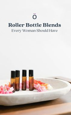 Here are a few essential oil roller bottles that we believe every single woman should have!