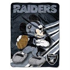 Oakland Raiders Fleece Blanket Throw Large Lightweight Throw