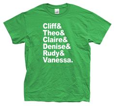 THE COSBY NAMES show tshirt long and short sleeve by GooderGifts