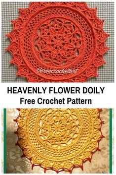 Heavenly Flower Doily Free Crochet Pattern