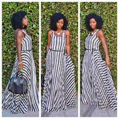 Today's Post: Parker Striped Maxi
