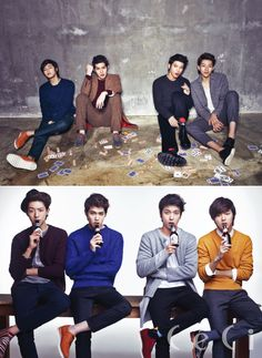 I think these boys may have had one too many to play cards. (CN Blue)
