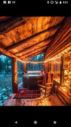 Hot tub at the cabin
