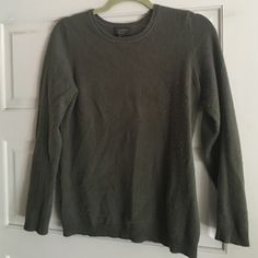 Cashmere sweater Long sleeve army green cashmere sweater , round neck , soft and warm Charter Club Sweaters Crew & Scoop Necks