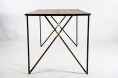 inside out dining table - reclaimed wood , industrial furniture , modern , made by hand by RockyMountainTableCo on Etsy