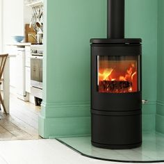 Like the idea of a wood burning stove in the fireplace