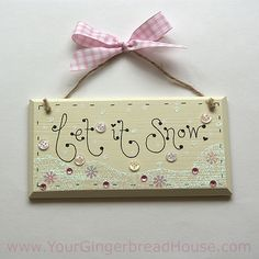 Your Gingerbread House - Christmas Signs - handmade wooden signs and canvases