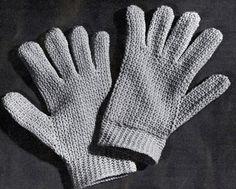 Easy Crocheted Gloves Pattern