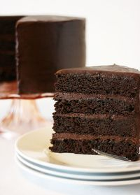 American Mud Cakethis rich moist cake is full of intense chocolate flavor Cake Paper Party Cupcakes, Cupcake Cakes, Chocolate Flavors, Chocolate Desserts, Chocolate Mud Cake, Chocolate Covered, Dense Chocolate Cake Recipe, Chocolate Heaven, Pies