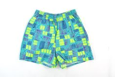 90s Colorful Cotton Work Out Shorts XS / Small  80s by ColonyVtg