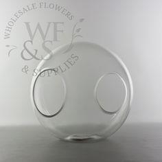 Glass Sphere Crosswinds Vase Medium - WholesaleFlowersAndSupplies.com