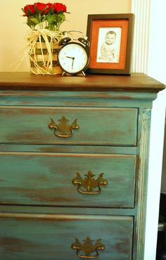 Between Blue and Yellow- Aubusson Dresser