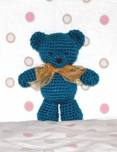 Basic Teddy Bear Pattern. Pretty small but tiny. I could probably make a bunch of these in different colors. :)