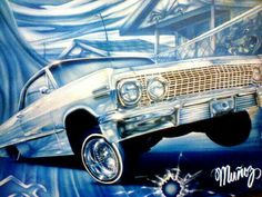 Cholo Art, Chicano Art, Lowrider Art, 3d Chalk Art, Hispanic Culture, Truck Paint, Airbrush Art, Chevy Impala, Mexican Art