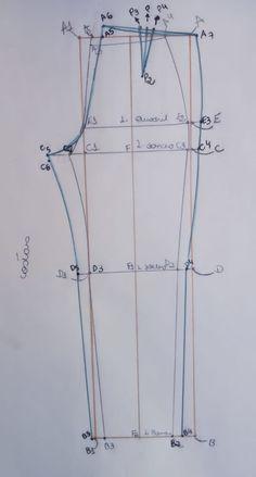 APRENDA UMA BASE DE CALÇA – SIHBLOG Sewing Pants, Sewing Clothes, Diy Clothes, Pattern Cutting, Pattern Making, Sewing Lessons, Couture Sewing, Pattern Drafting, Dress Sewing Patterns