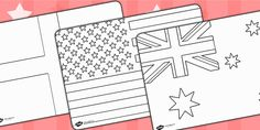 Football/World Cup- World Cup Flags Colouring Sheets