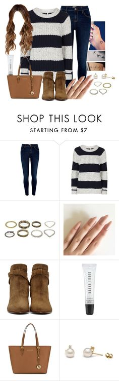"""""""Walking to London and coffee afternoon"""" by juliafelizardo ❤ liked on Polyvore featuring River Island, Topshop, Yves Saint Laurent, Bobbi Brown Cosmetics and MICHAEL Michael Kors"""