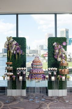 Seeking something different than the traditional wedding cake? @Four Seasons Hotel Baltimore Catering Manager Anna Wells recommends this hot new trend, an ombre donut tower. We're sold!