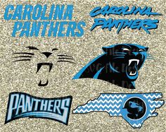 Carolina Panthers Football Logo Design Cutting File Set in Svg Eps Dxf Png and Jpeg Format for Cricut and Silhouette