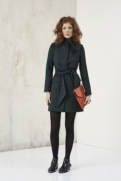 Manteau vert col écharpe pour femme, collection Automne-Hiver IKKS Women   fw16  womensfashion ad04dcf1b9f