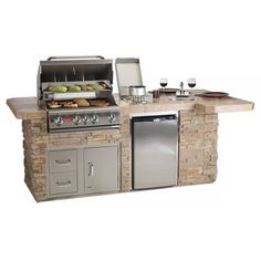 Bull Outdoor BBQ Grilling Island w/Built-In Grill #LearnShopEnjoy
