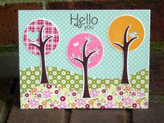 Cards Using Papertrey Ink / http://luvcraftingwithcricut.blogspot.com/2012/04/hello-you.html