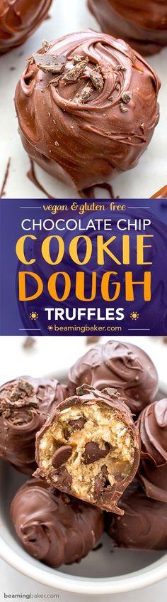 Chocolate Chip Cookie Dough Truffles (Vegan Gluten Free)