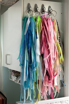 Ribbon and lace storage
