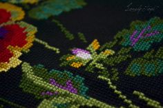 Lovely stitch: Анютины глазки.