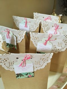 Favors for my sister's baby shower for a girl #shabby chic