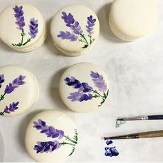 We've been craving one of these sweet #macarons from the talented lady duo of @bttrcrmbakeshop. Just the right mix of taste & design. Just our style We love these hand painted beauties!  Get a taste of buttercream for yourself at our #SpringSocialDC.  Check out this link to join us at our Spring Social http://ift.tt/1TdgRft - or click on the link in our profile {Tap to see our awesome collaborators}  #ACreativeDC #StylishBites #DCEvents #VAWeddings #DCWeddings #LoveAtFirstBite
