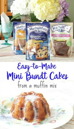 Easy-to-Make Mini Bundt Cakes from a muffin mix and Greek yogurt - Recipes - Bundt Cake Blueberry Bundt Cake, Bundt Cake Pan, Blueberry Cheesecake, Nothing Bundt Cakes, Pampered Chef Recipes, Pampered Chef Bundt Cake Recipe, Cakes Plus, Muffin Mix, Mini Desserts