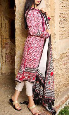 7 Most Beautiful Lawn Dresses Of 2016-lawn dress-pakistani fashion-