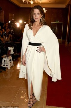 All white on the night: Kate Beckinsale attended the London Critics' Circle Film Awards at the May Fair Hotel on January 22, 2017