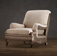 Deconstructed English Roll Arm Chair  Restoration Hardware