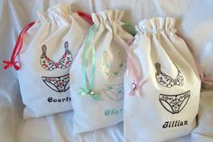 personalized laundry bags underwear