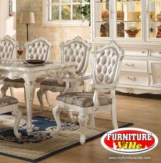 Chantelle Dining Set! $1999 Include Dining Table and four chairs. 36 Months No Interest/$0 Down Payment. No Credit Check Finance Options. Bad Credit/No Credit/No Problem~ Approval Guaranteed. Call us (917) 471-9800. Visit Our Bronx Showroom For More Style & Collections. #FurnitureVille #Furniture #diningset #BronxFurniture #NewYorkFurniture #server #chair #dining #bronx #chantelle
