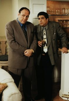 The Sopranos - Tony with his best friend, the ill-fated Big Pussy #GangsterFlick