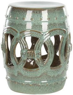 Lowest price on Safavieh Blue Green Ceramic Double Coin Stool  ACS4500A. Shop today!