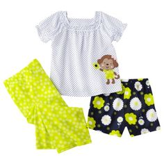 Just One You by Carters Infant Toddler Girls 3-Piece Pajama Set