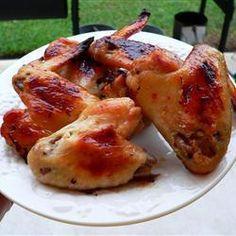 Photo of recipe: Baked Baked Chicken Wings, Crispy Chicken, Allrecipes, Snacks, Baking, Food, Gluten, Crispy Baked Chicken Wings, Baked Chicken