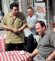 Sil, Paulie, and Tony. Mafia, Movie Photo, Movie Tv, Tony Soprano, Hbo Series, Great Tv Shows, The Godfather, Old Tv, Best Tv