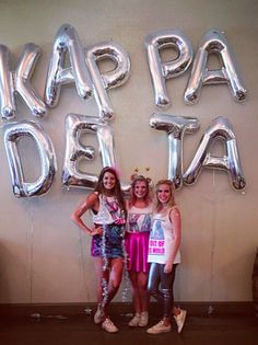 Kappa Delta at Kennesaw State's Out of this World Bid Day 2015 Kennesaw State, Kappa Delta, Sorority Life, Bid Day, Out Of This World, College, Neon Signs, Decorations, Night