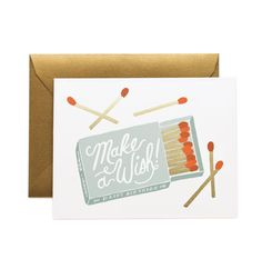 Make A Wish Available as a Single Folded Card or a Boxed Set of 8