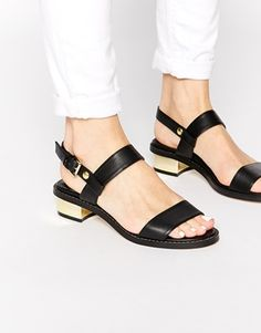 Enlarge ASOS FANCIFY Two Strap Sandals