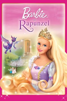 Barbie As Rapunzel Poster Artwork - Kelly Sheridan, Anjelica Huston, Cree Summer - http://www.movie-poster-artwork-finder.com/barbie-as-rapunzel-poster-artwork-kelly-sheridan-anjelica-huston-cree-summer/